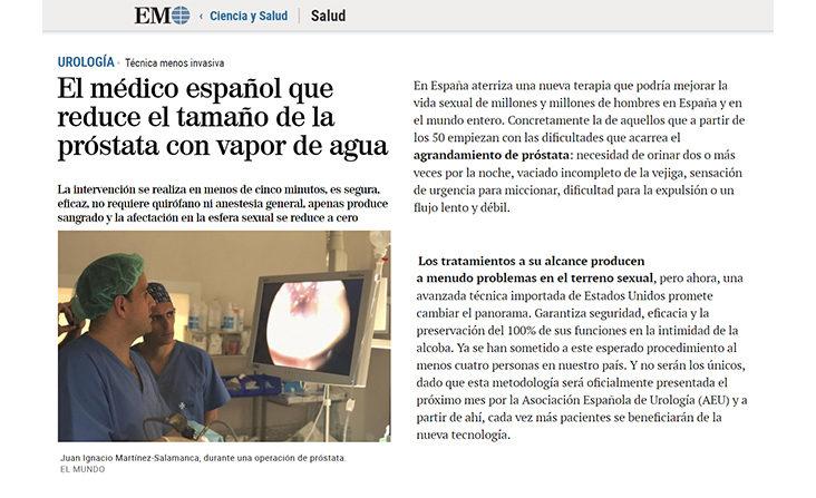 Dr. Martínez-Salamanca Diario El Mundo