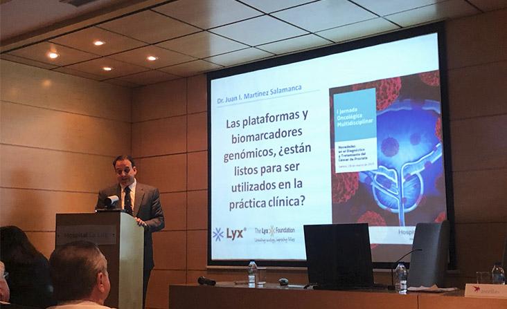 Dr. Martínez-Salamanca en I Jornada Multidisciplinar de Novedades en Cáncer de Próstata