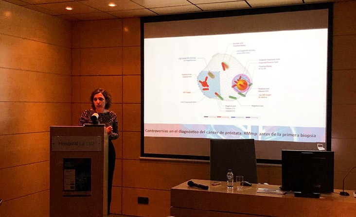 Dra. Estefanía Linares en I Jornada Multidisciplinar de Novedades en Cáncer de Próstata