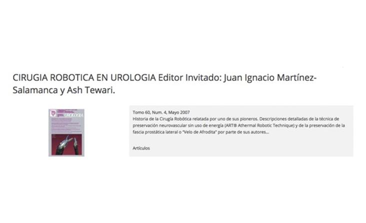 monográfico 2007 archivos españoles de urología